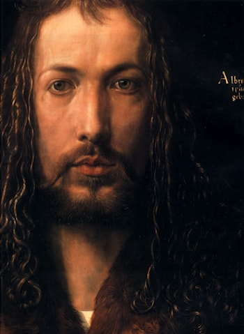 Self Portrait [detail] by Albrecht Durer
